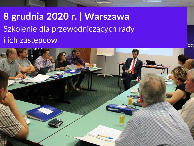 Szkolenie dla przewodniczących rad pracowników w Warszawie 8 grudnia 2020